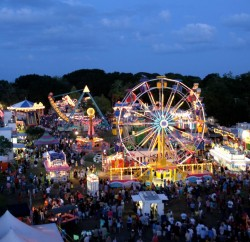 The Cathedral Festival is held on the grounds of the Mission in St. Augustine, set for Feb. 27-March 1, 2015. This photo shows the midway of the festival in 2010. Photo by Renee Unsworth