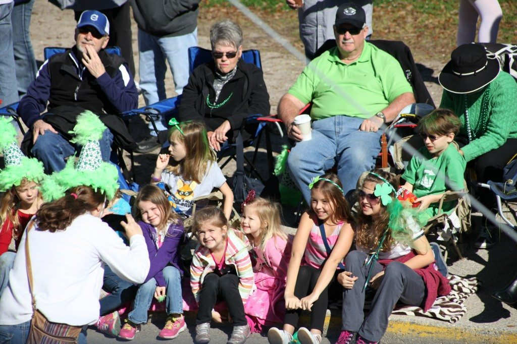 Parade-goers pose for photos at the 2014 St. Augustine St. Patrick's Day Parade. The 2015 event begins at 10 a.m. Saturday, March 14 at Francis Field. See the parade route in the story below. Photos by Renee Unsworth