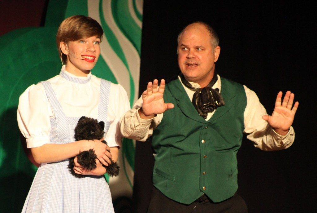 Dorothy and the Wizard in a scene from The Wizard of Oz, staged April 23-May 3 at Christ Episcopal Church in Ponte Vedra Beach. Photo by Renee Unsworth