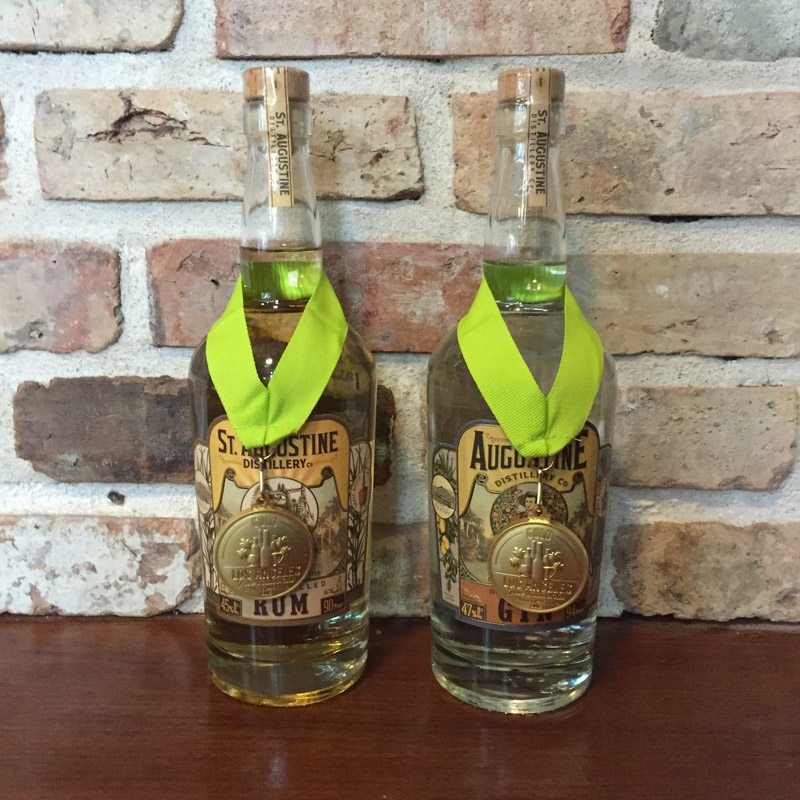 St. Augustine Distillery 2016 Los Angeles Spirits Competition gold medal wins