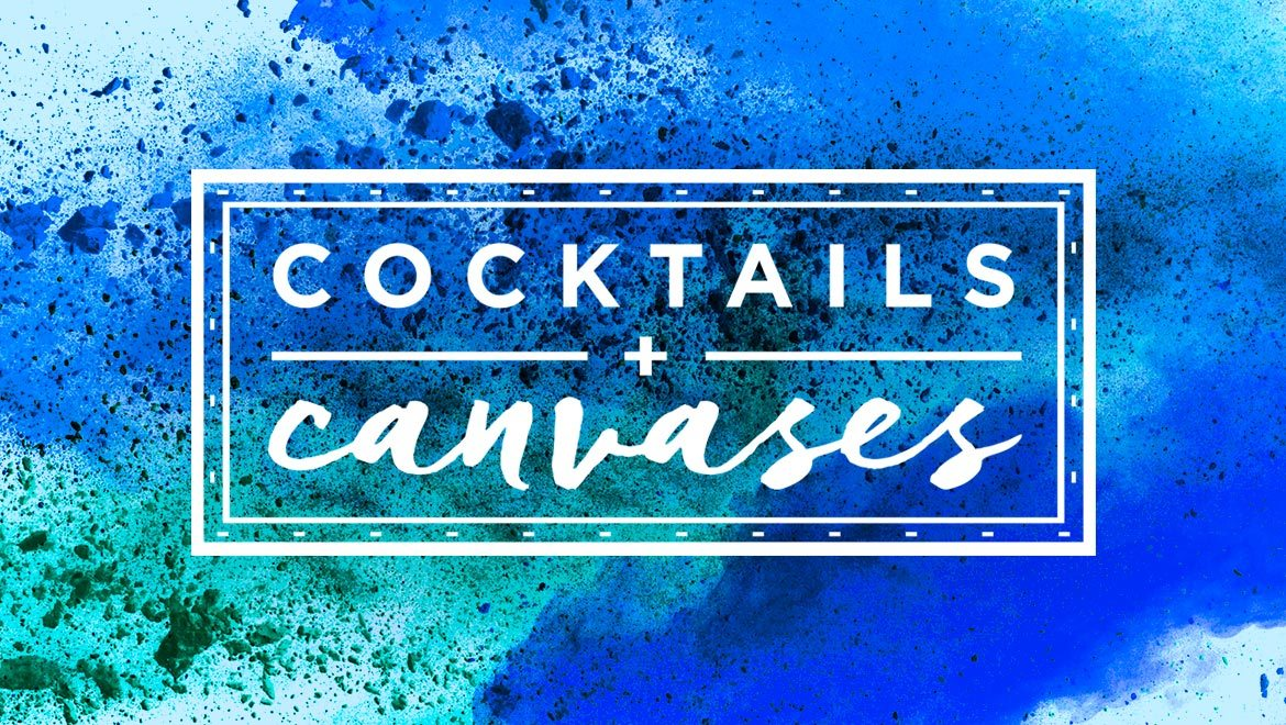 cocktails and canvases weekend in amelia island logo