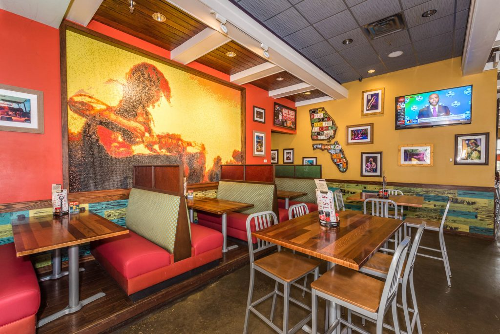 interior of mellow mushroom in st augustine florida