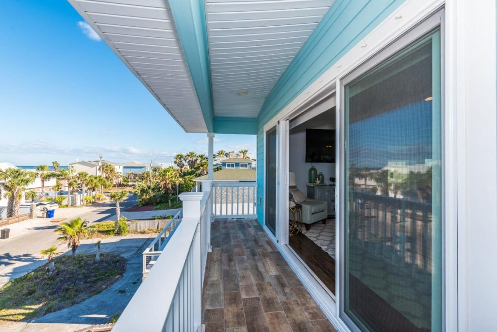 balcony with view of st augustine beach