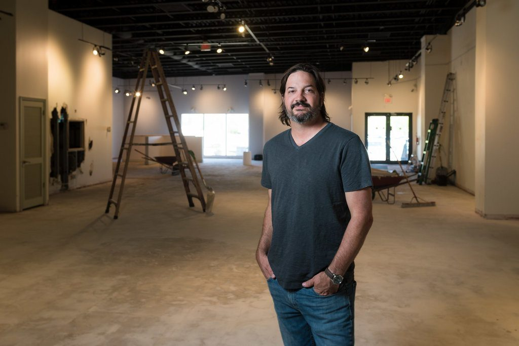 doug murr of dog rose brewing company stands in his future brewery in st augustine