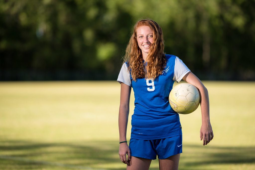 emma voigt soccer star and captain at pedro menendez high school st augustine