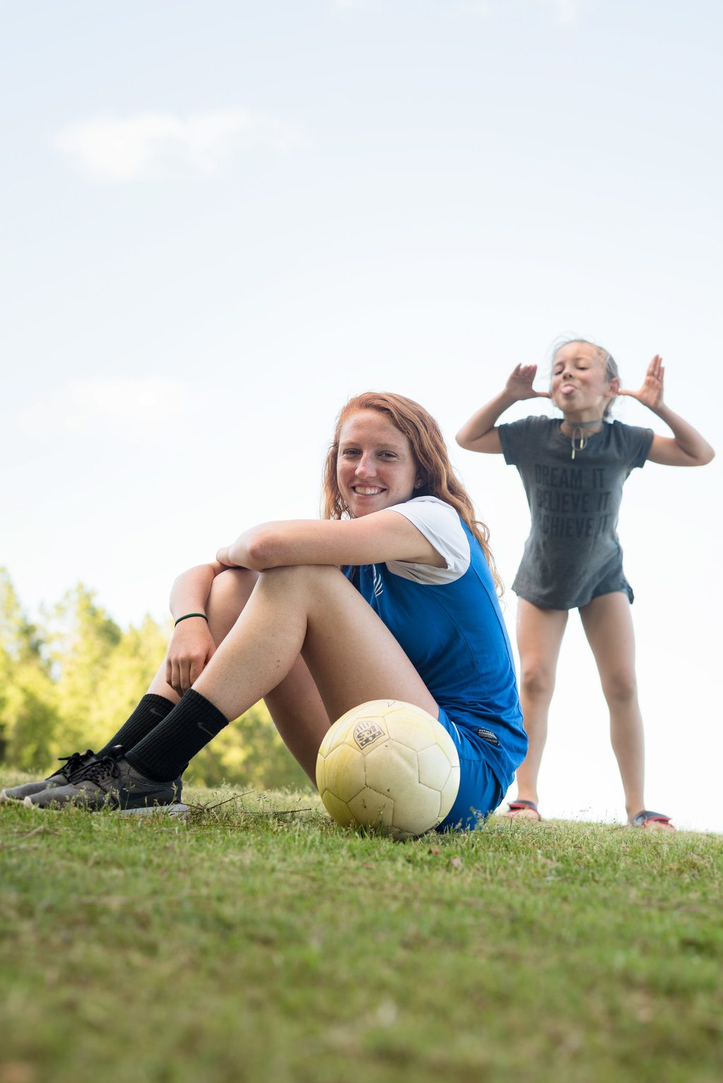 pedro menendez high school soccer star emma shares a laugh with her little sister