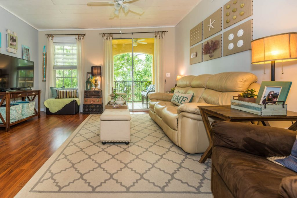 las palmas condo farmhouse chic living room st augustine
