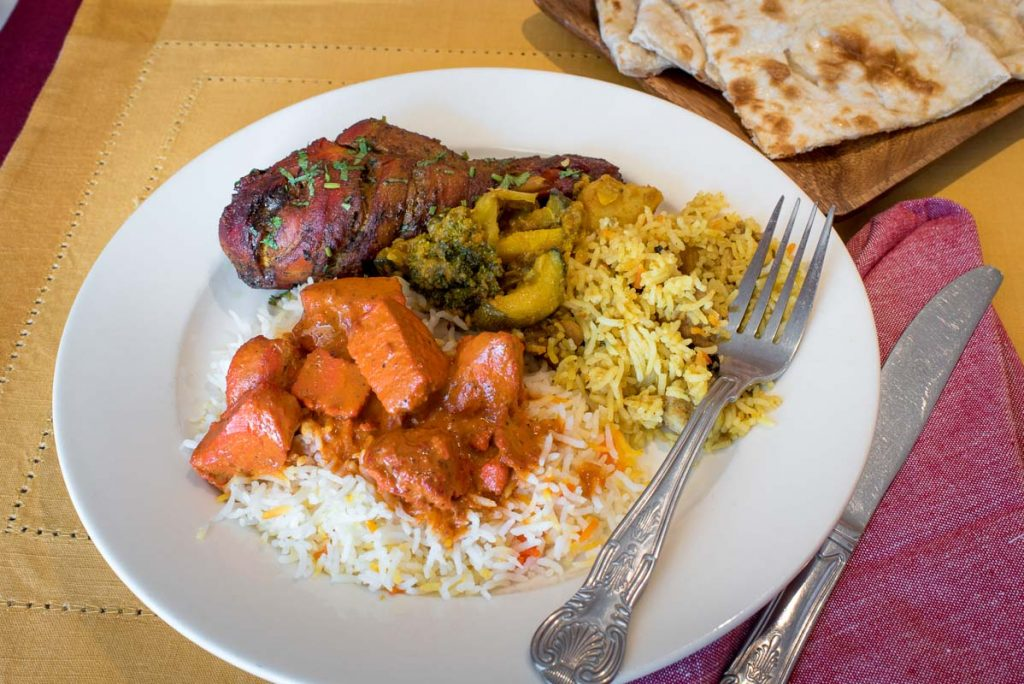 tandoori chicken rice tikki masala namaste indian restaurant st augustine