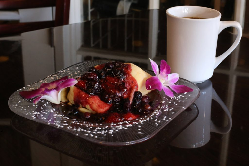mixed berry crepe raintree restaurant st augustine