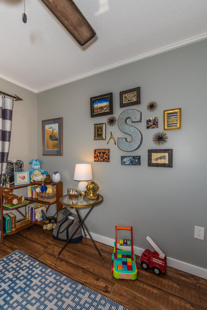 photo placement on the wall of davis shores st augustine home