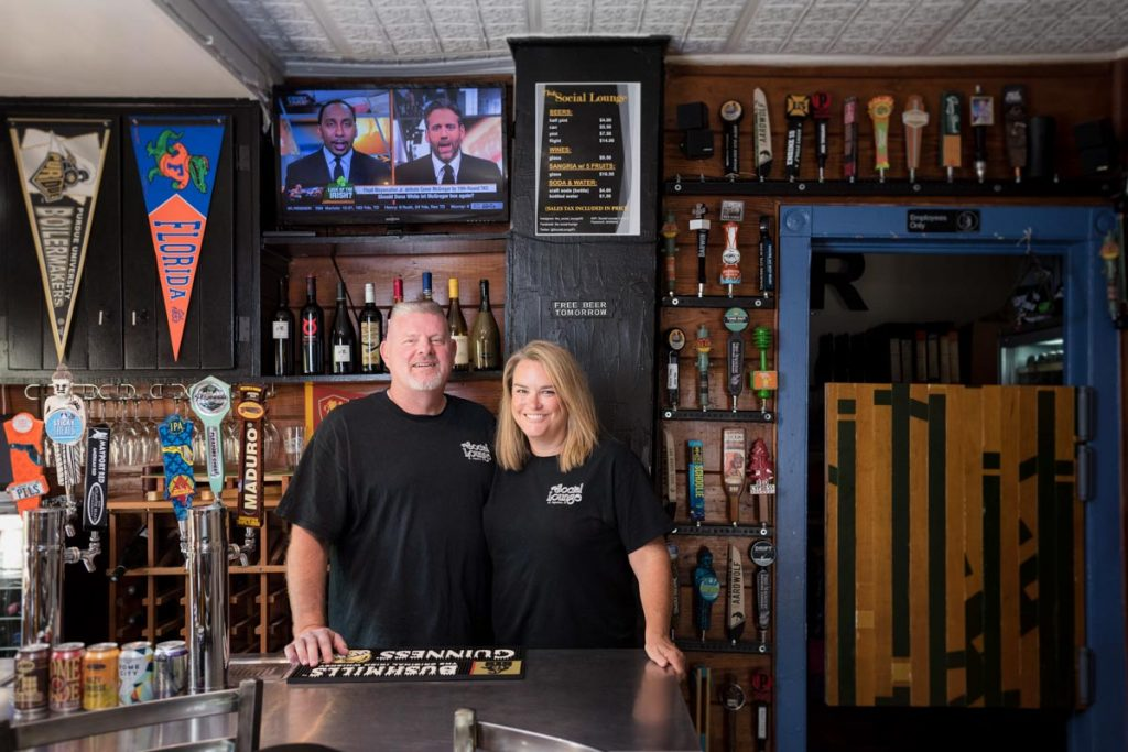 coleen and scott of the social lounge st augustine
