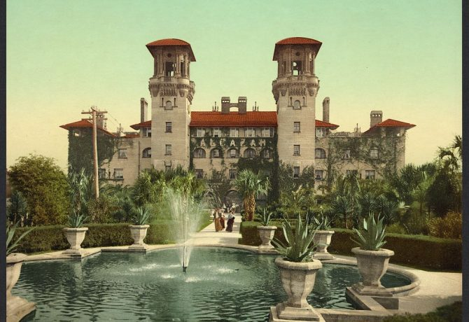vintage image of the lightner museum or alcazar hotel in st augustine florida