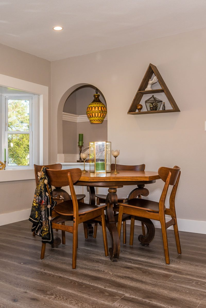dining room of midcentury davis shores st augustine home