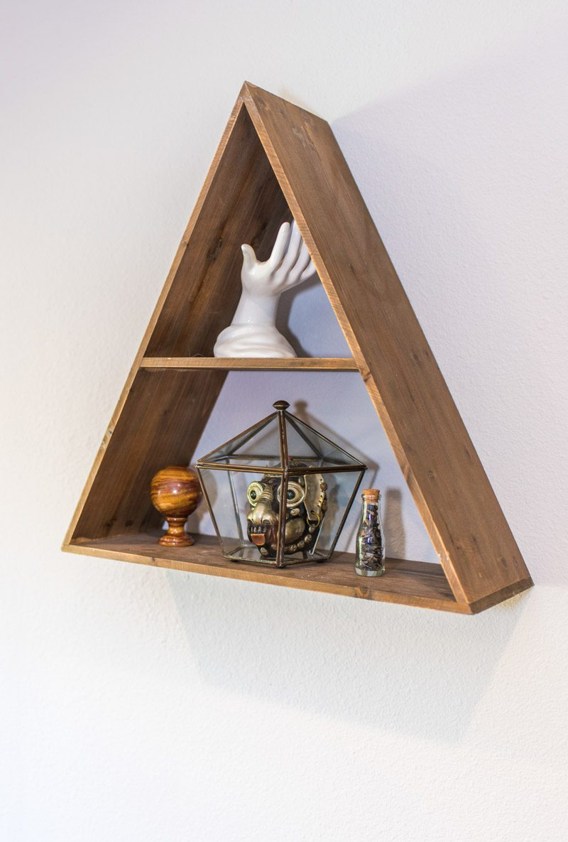 triangle shelf in st augustine home