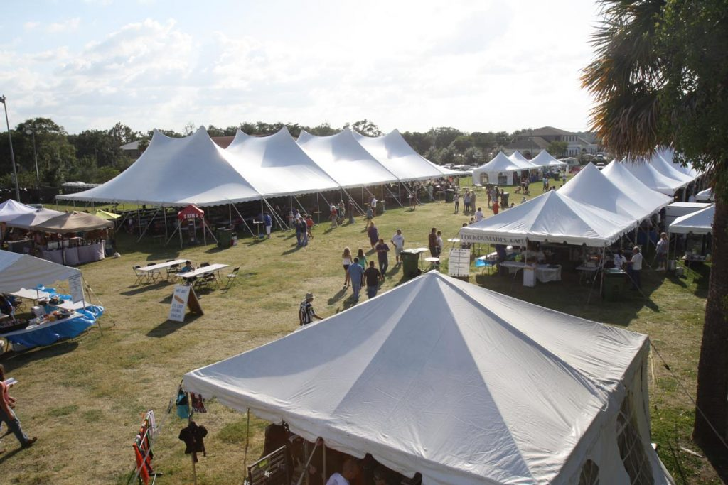 tents and vendors at the st augustine greek festival