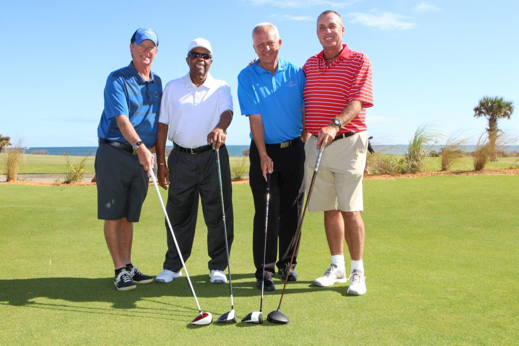 foursome on the ocean course at hammock beach resort
