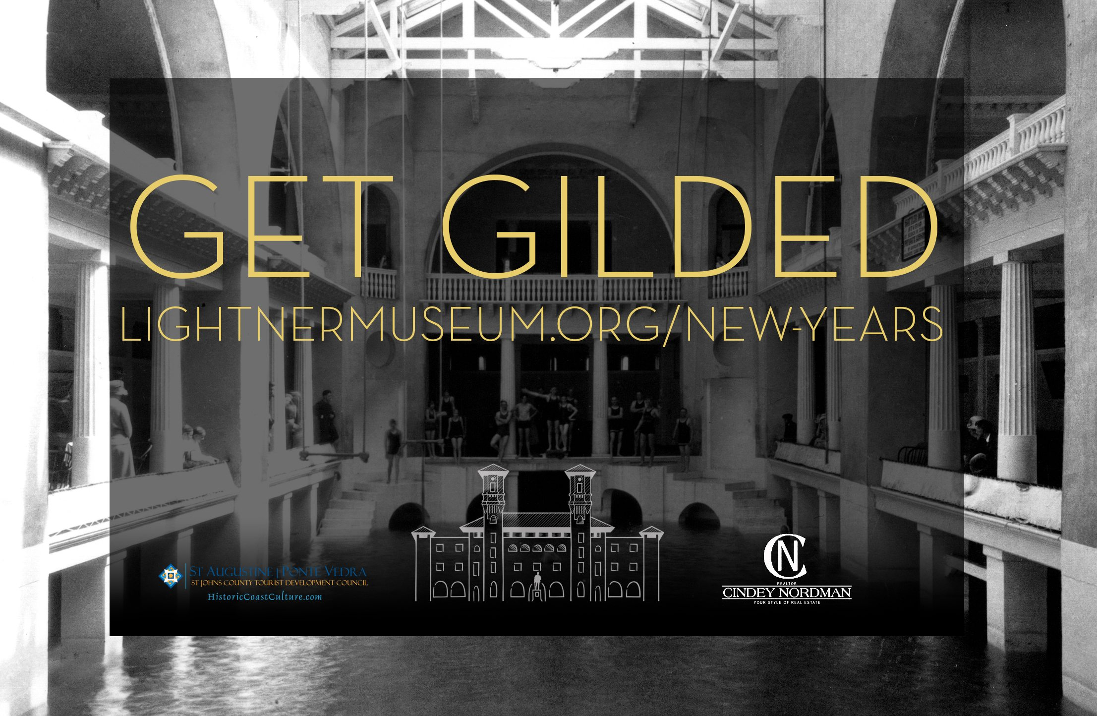 get gilded lightner museum st augustine new years party logo