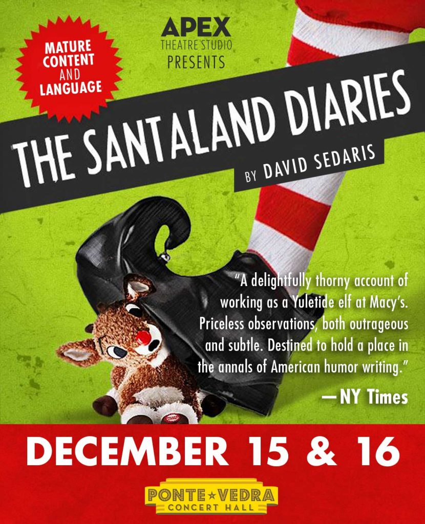 santaland diaries presented by apex theatre jax at the ponte vedra concert hall