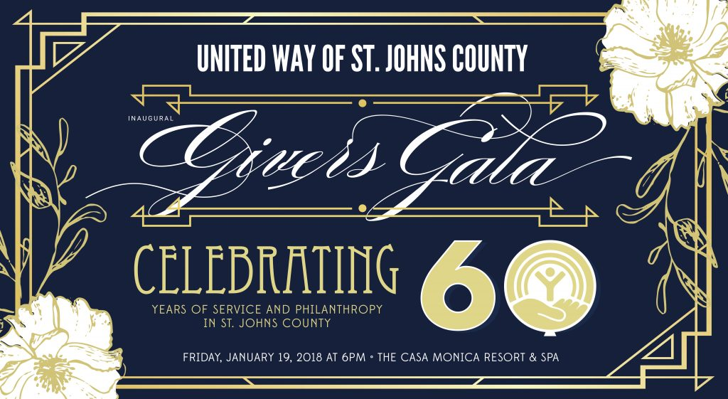united way of st johns county givers gala 2018 poster