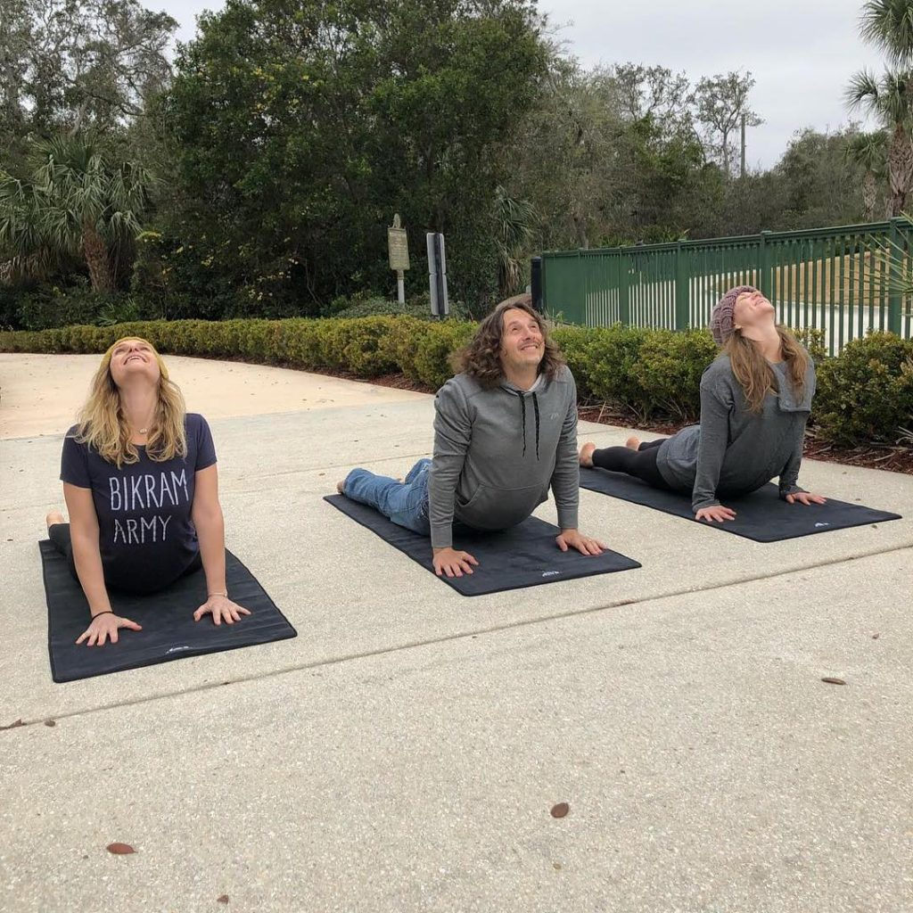 yoga at the st augustine amphitheatre farmers market