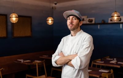 chef joshua smith poses in catch 27 st augustine
