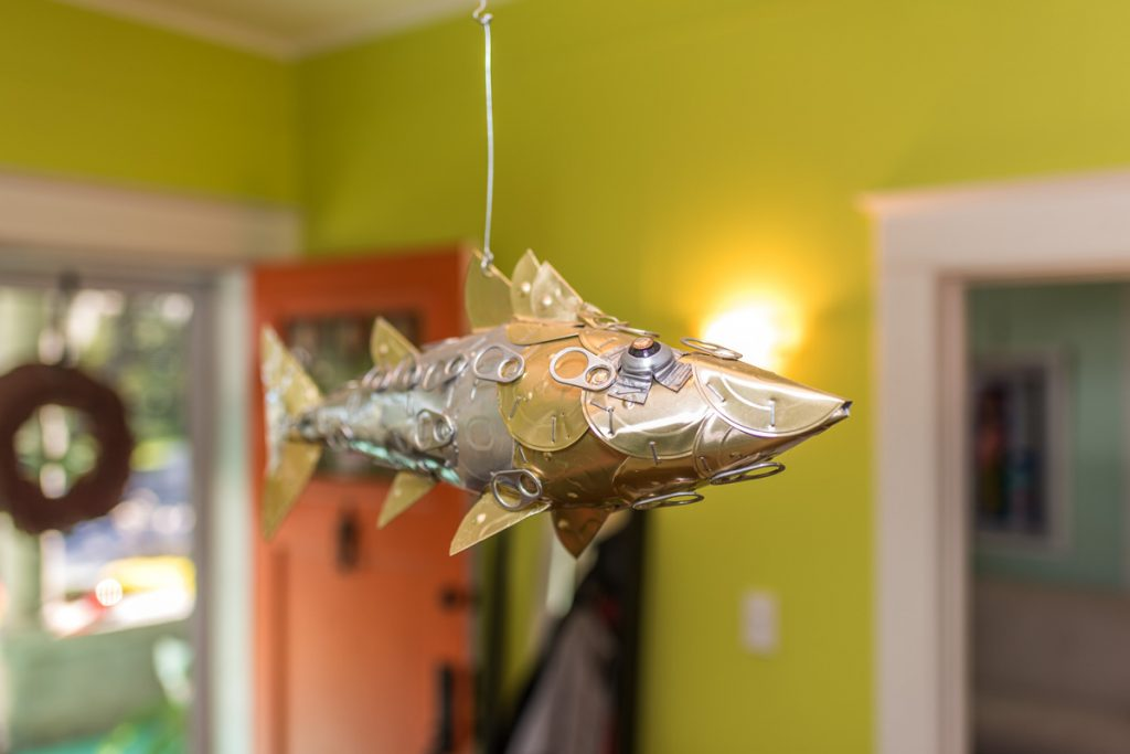 fish art in eclectic lincolnville st augustine home