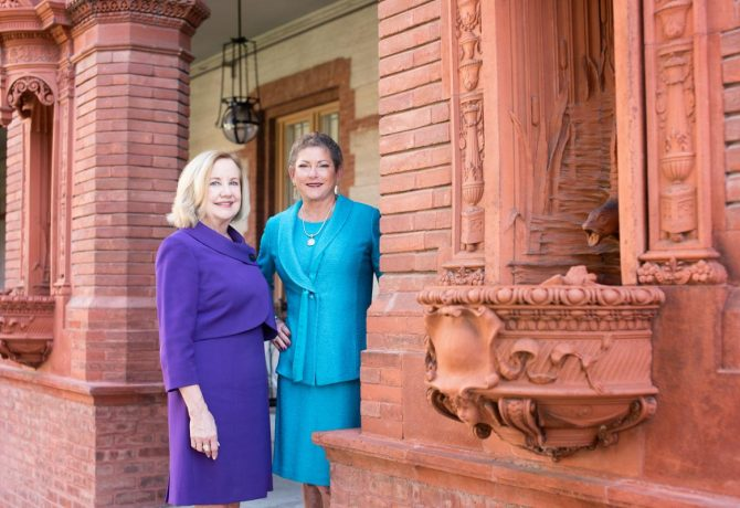 dr beverly carmichael and robin cooper of the women of vision fund at flagler college