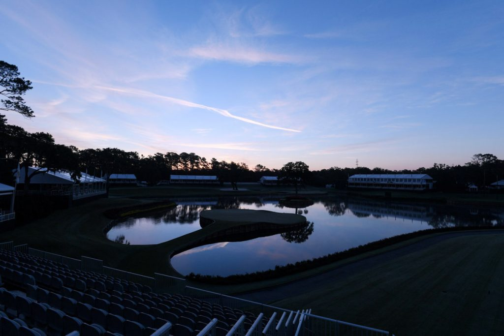the grounds of the players stadium course at tpc sawgrass
