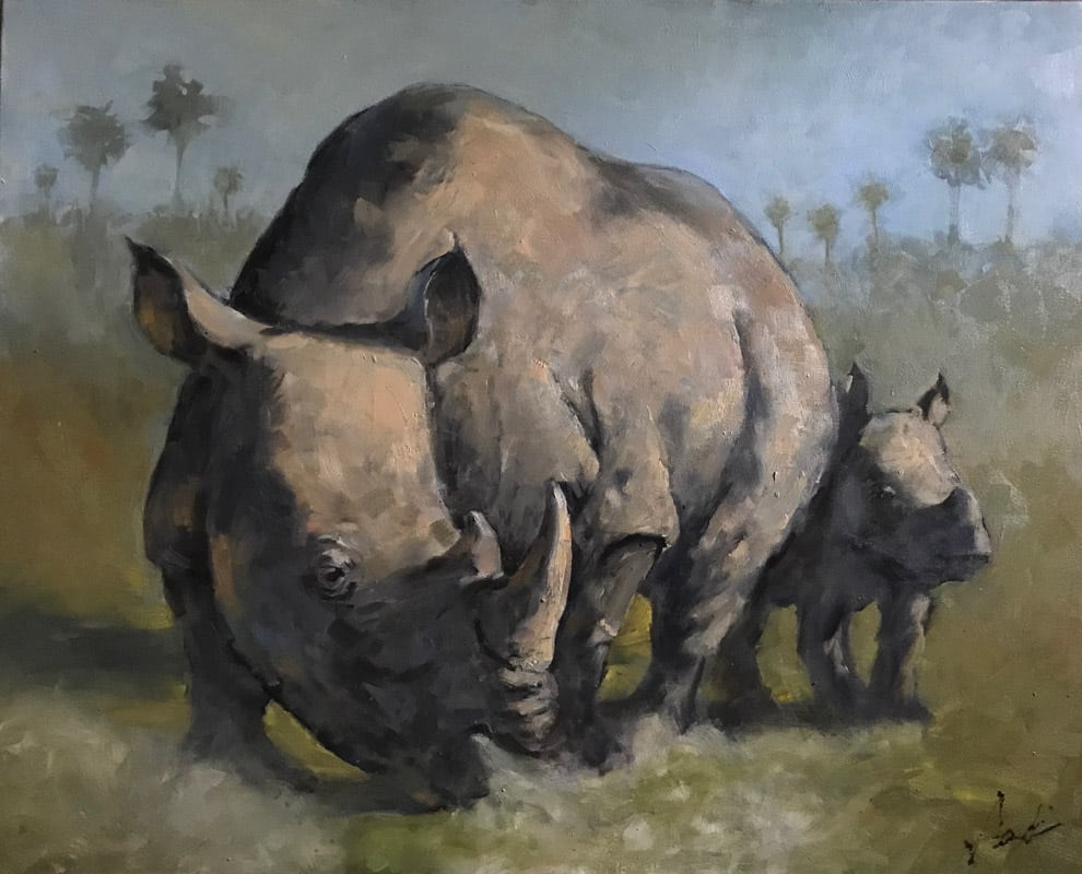 st augustine art association wildlife exhibit rhinos