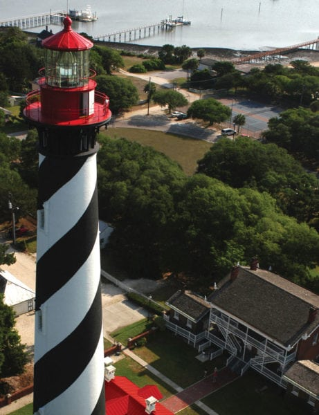 Aerial view of the St. Augustine Lighthouse