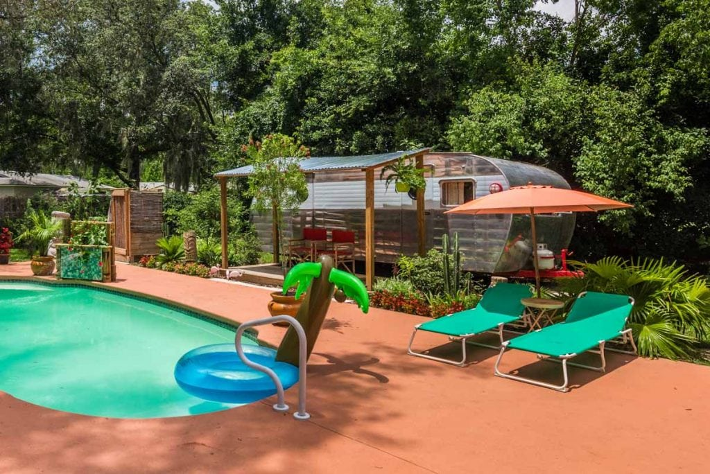 backyard oasis at mid century st augustine home