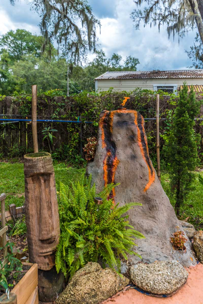 backyard volcano at mid century st augustine home