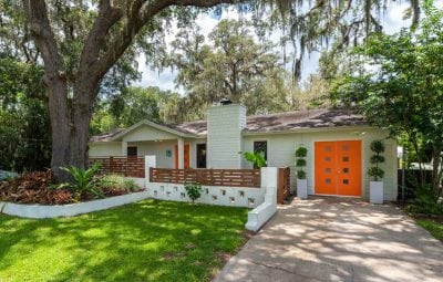 outside of the mccarty's mid century st augustine home