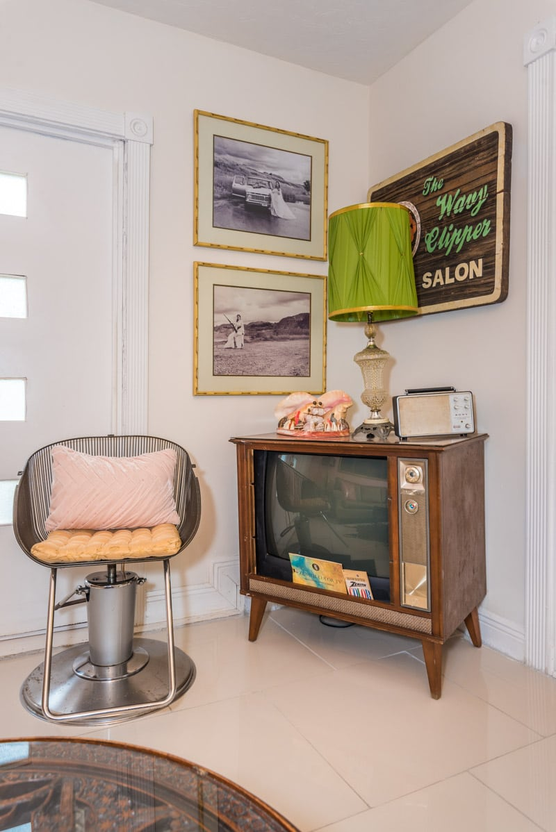 vintage television in mid century st augustine home