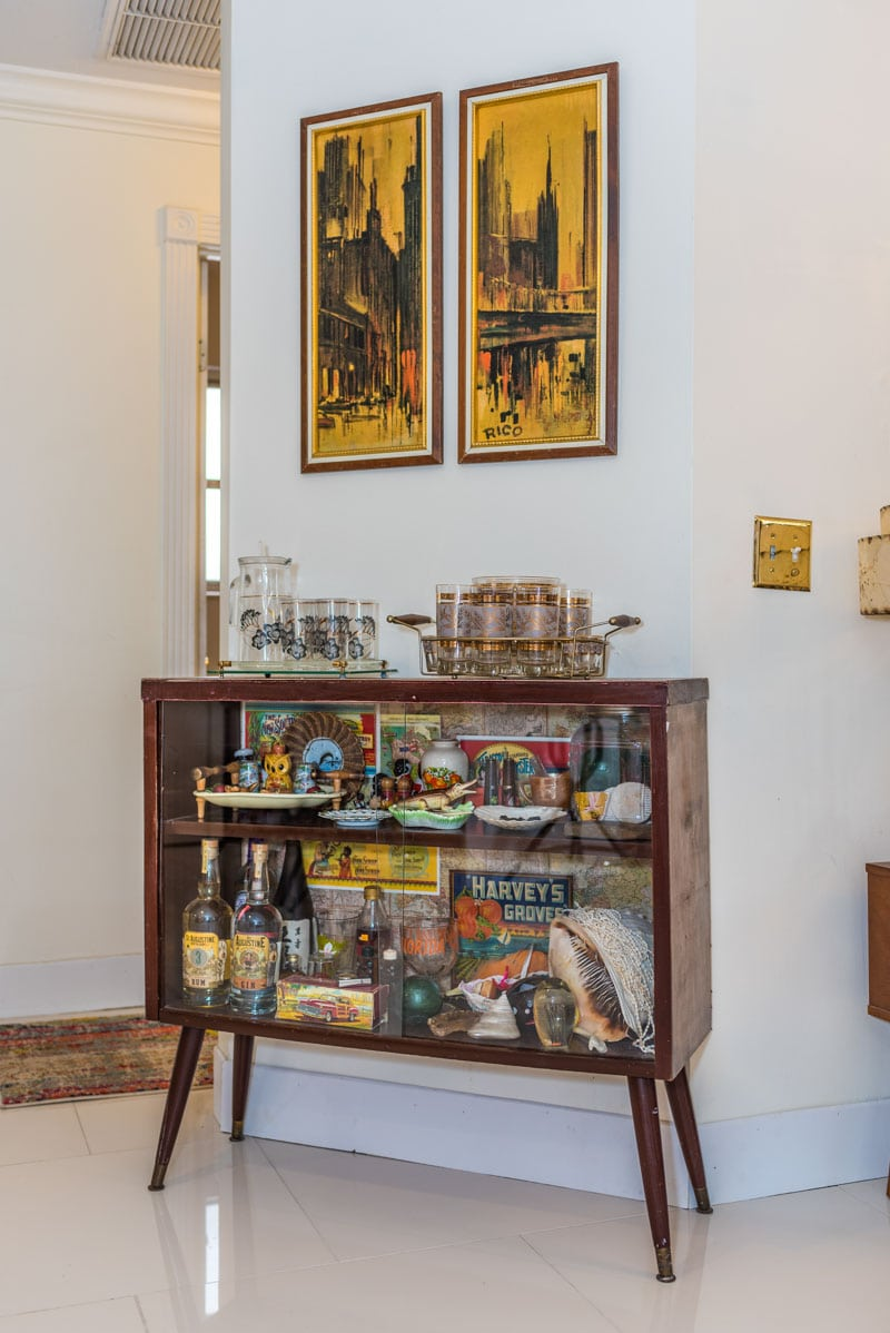 bar cart mid century st augustine home