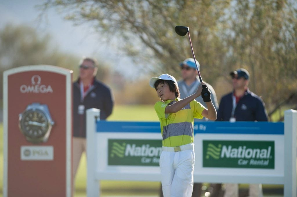 kids under 13 compete at the pga junior league regional tournament at world golf village
