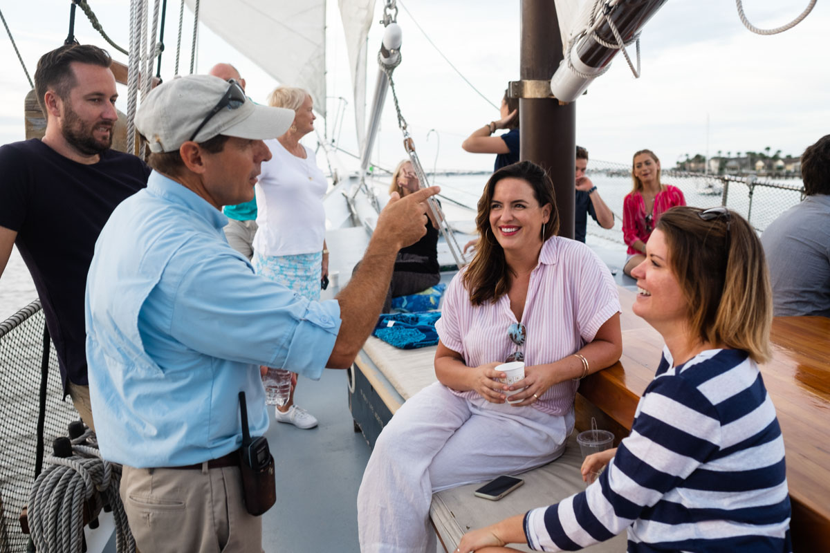 st augustine social team on board the schooner freedom