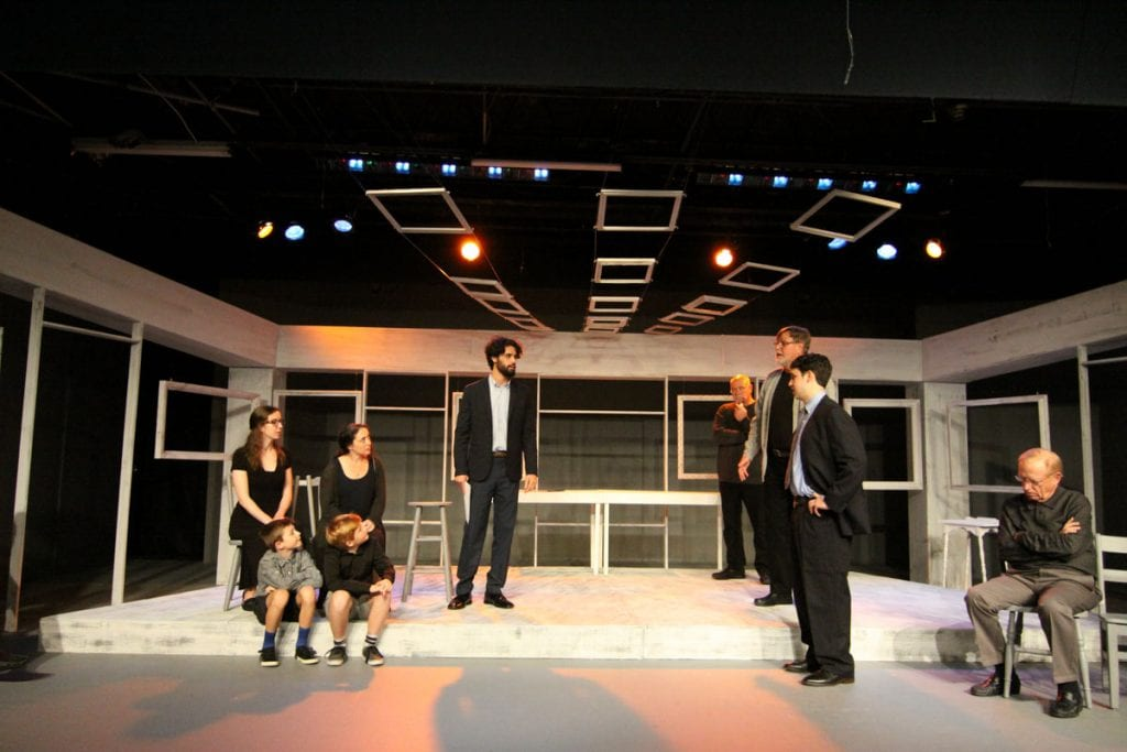 the cast of an enemy of the people at limelight theatre