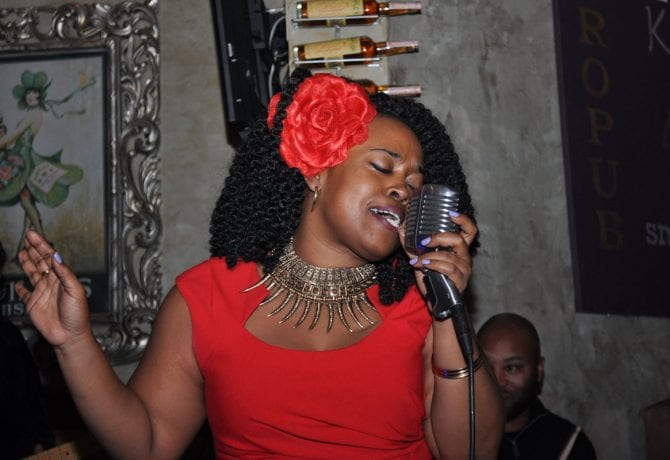 mama blue performs at the lincolnville museum and cultural center