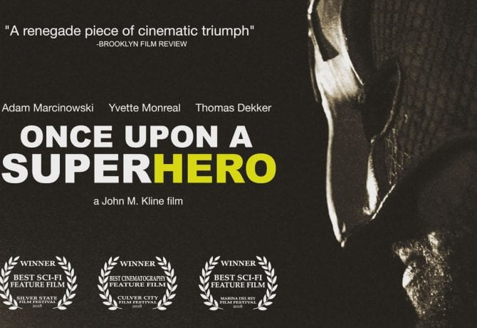 once upon a superhero film poster