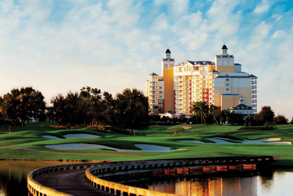 outdoor shot of the reunion resort in orlando florida