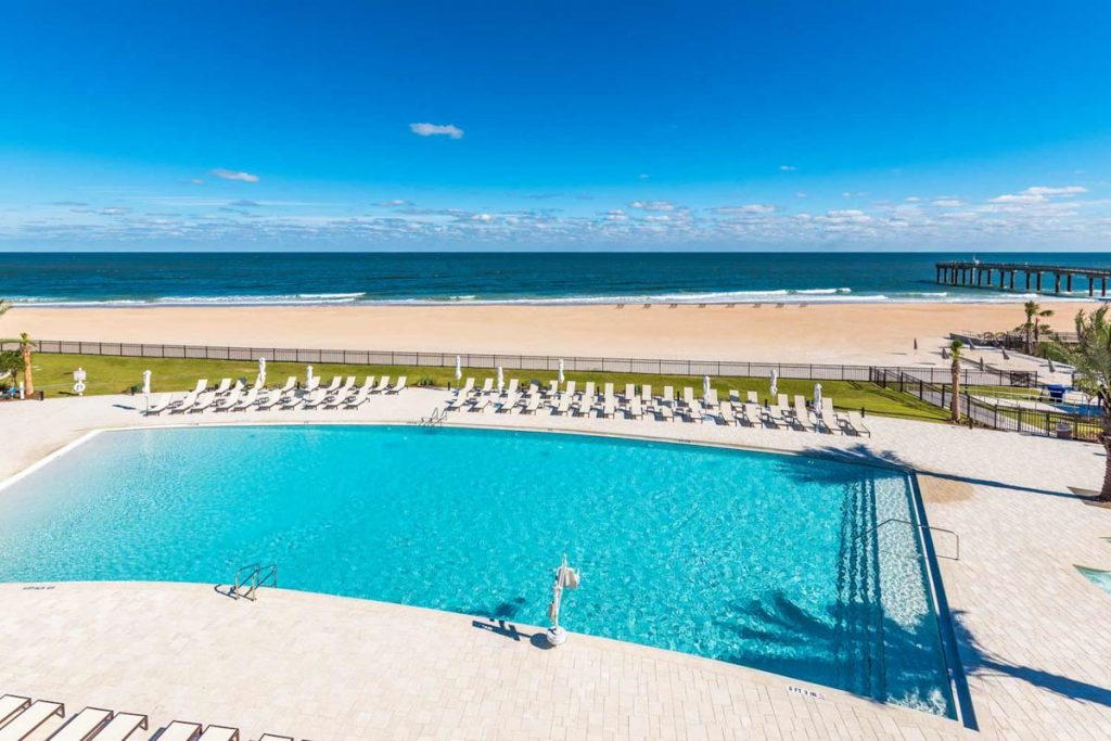 the pool at embassy suites st augustine beach