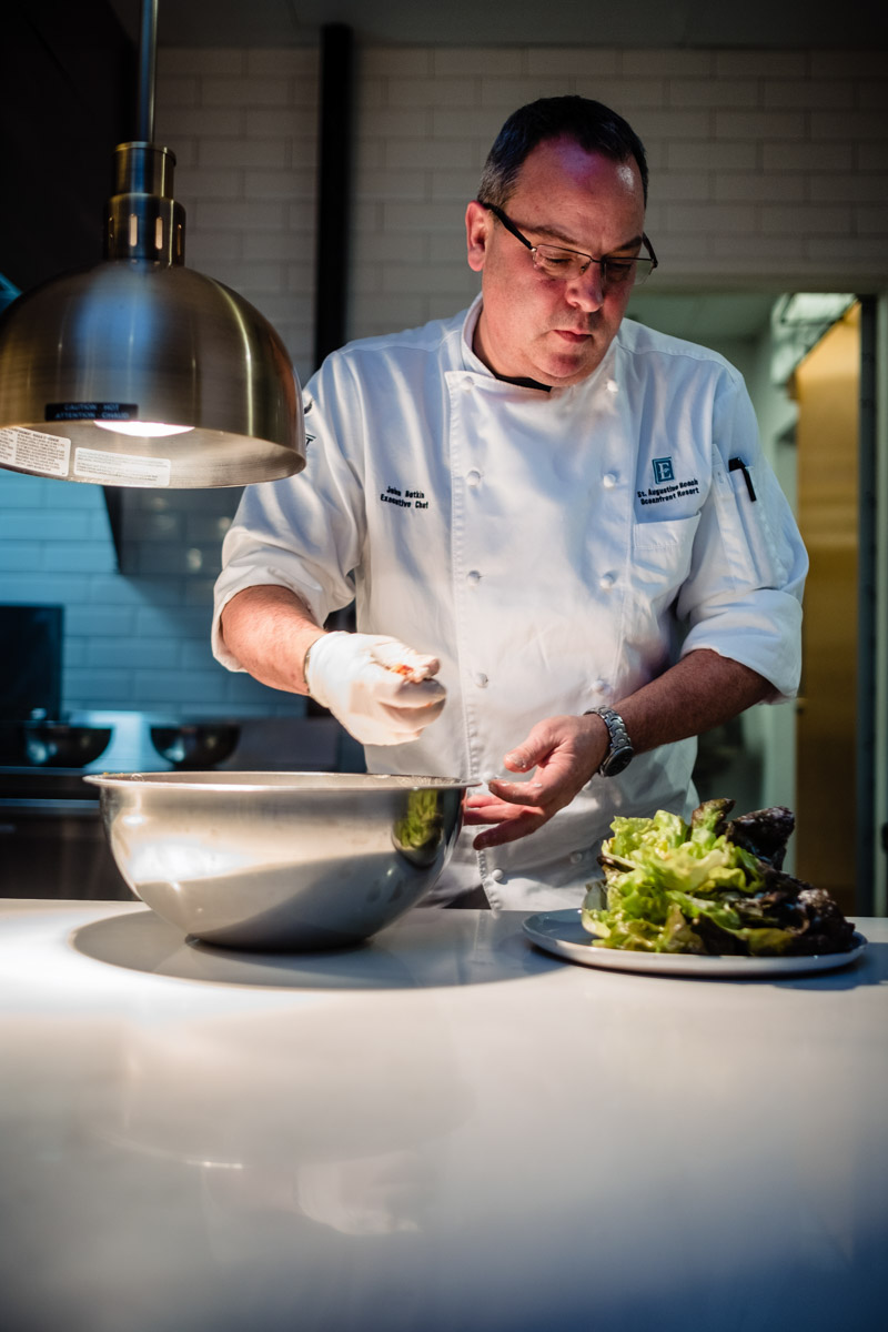 John botkin head chef at harvest and reel embassy suites