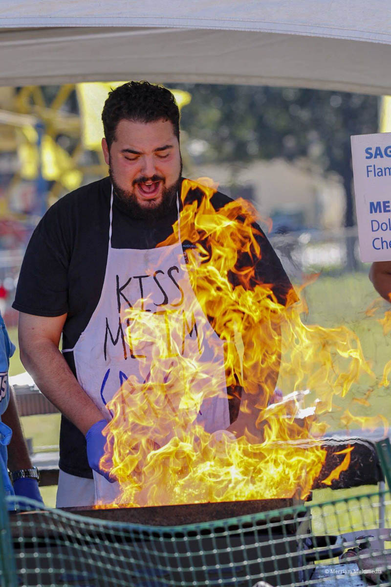 a chef at the st augustine greek festival