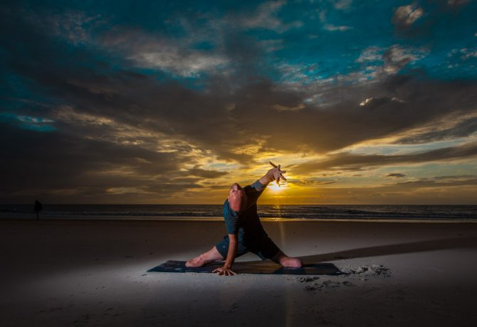 yoga on the beach with dan nevins