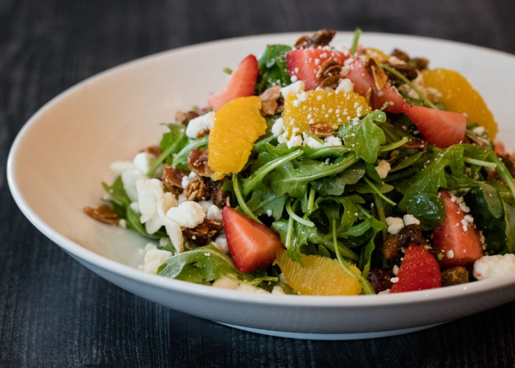 strawberry salad at bellwether jacksonville