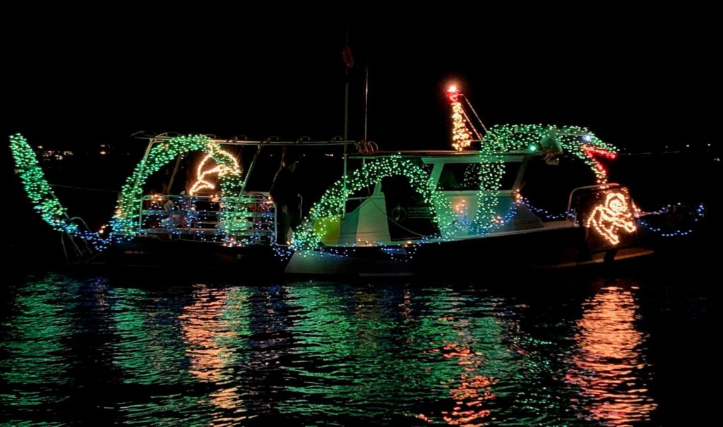 the st augustine lighthouse's winning light display at the regatta of lights