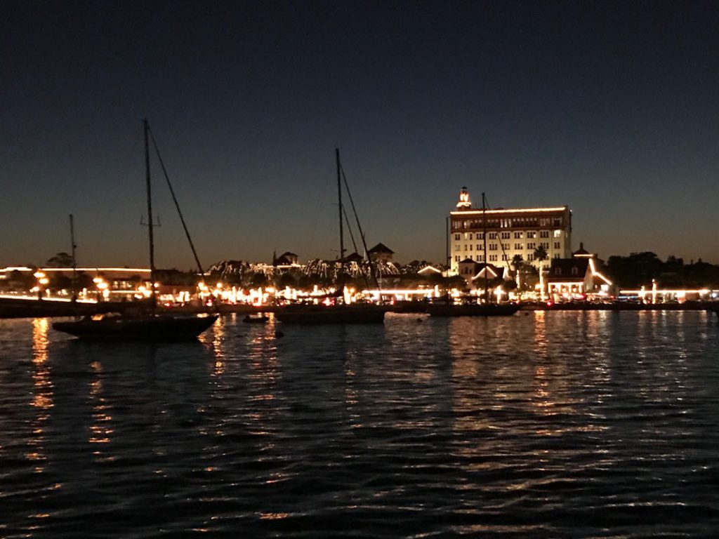 st augustine sailing ships during nights of lights