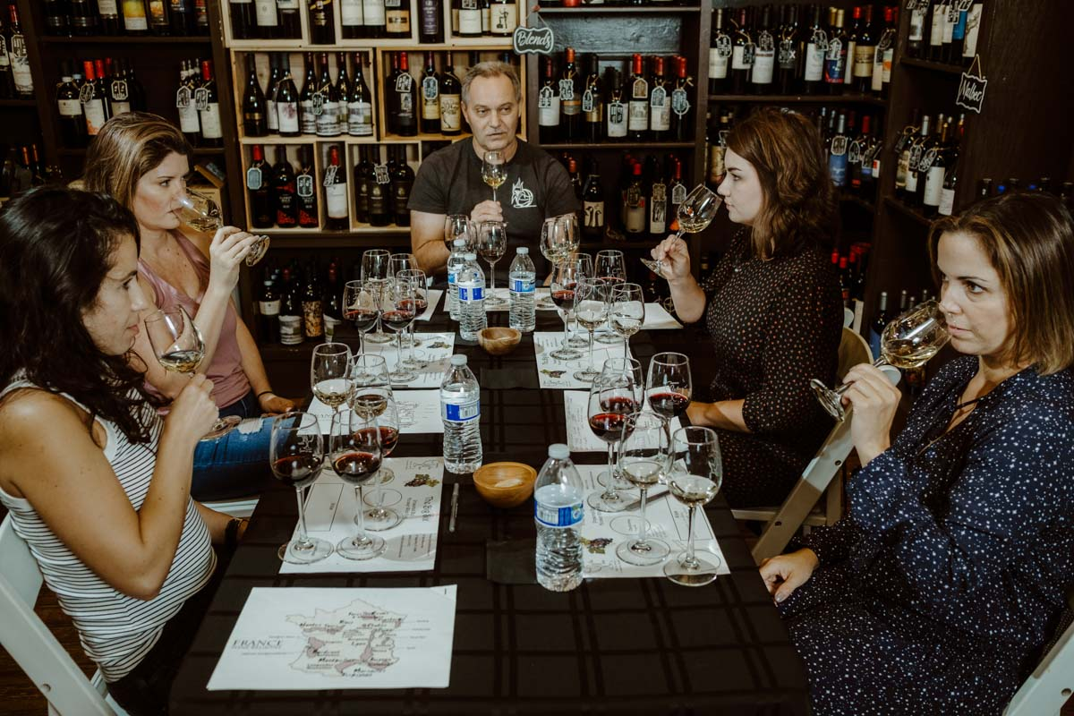 st augustine social team takes a class at carrera wine cellar