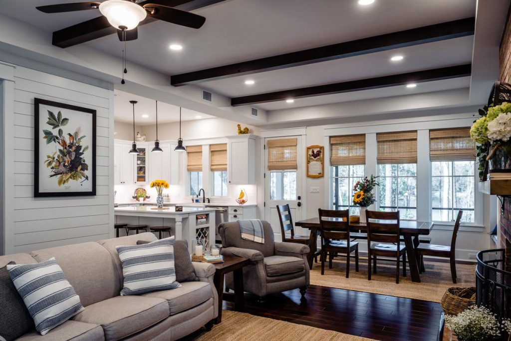 living room of longleaf house in st johns county